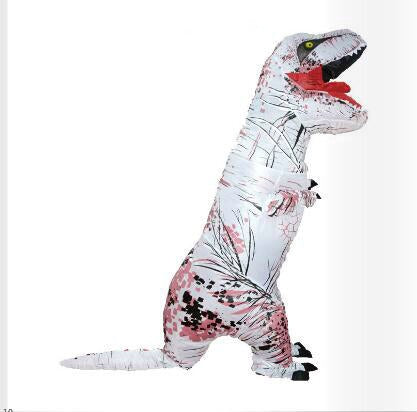 Adult Inflatable White T-Rex Dinosaur Cosplay Halloween Costume