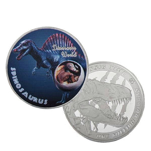 Spinosaurus Dinosaur 999.9 Silver Plated Coin Collectible