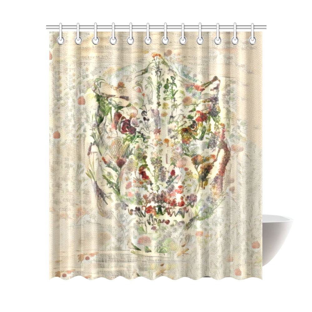 TheDinostaur Exclusive Jurassic Bloom T-Rex Shower Curtain 72