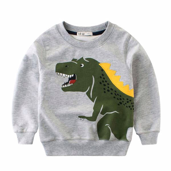 Good Spike Day T-Rex Cotton Sweatshirt
