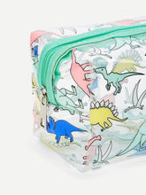 Transparent Dinosaur Print Makeup Travel Bag
