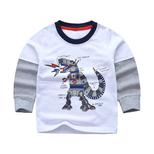 Robosaur Cotton Grunge Long Sleeve Shirt