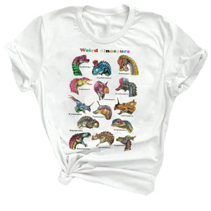 """Who You Calling Weird"" Dinosaur Cotton T-Shirt"