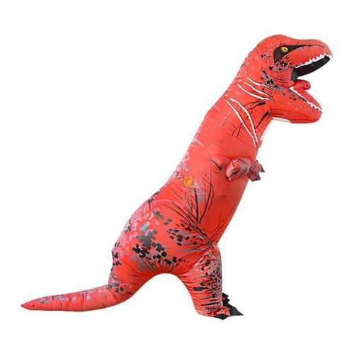 Red Adult Inflatable T-Rex Dinosaur Cosplay Halloween Costume
