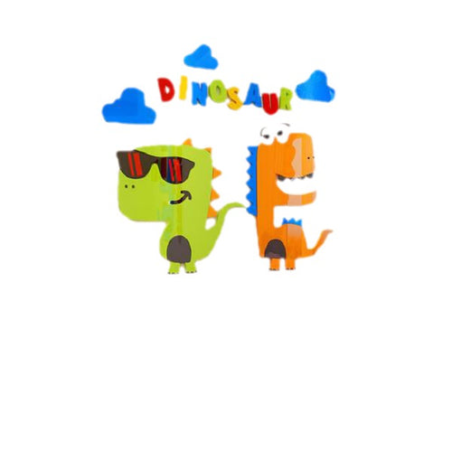Cutie Dinosaur Friends 3D Acrylic Wall Decal Art Multiple Size & Dinosaur Options