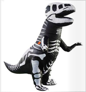 Adult Inflatable T-Rex Dinosaur Skeleton Cosplay Halloween Costume