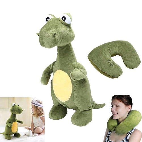 Dinosaur Travel Pillow Convertible 2-in-1