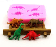 4PCS Dinosaur Shaped Silicone Cake mold