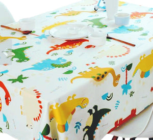 Cotton Dinosaurs Party Tablecloth