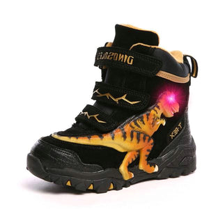 Light Up T-Rex Eye 3D High Top Sneaker Cold Weather Boots