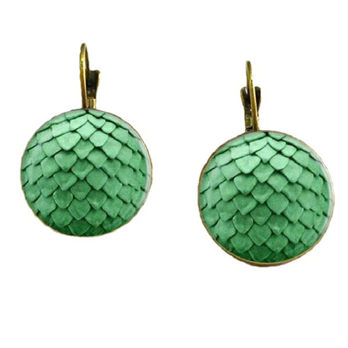 Dragon Egg Drop Earrings  Silver Or Antique Bronze