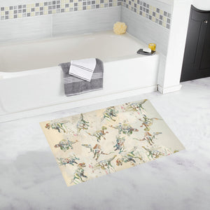 Jurassic Blossom Bath Rug TheDinostaur Exclusive