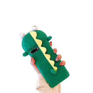 3D Plush Iphone Dino Protective Case Cover