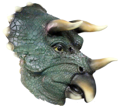 Realistic Full Head Triceratops Halloween costume Latex Dinosaur Head Mask