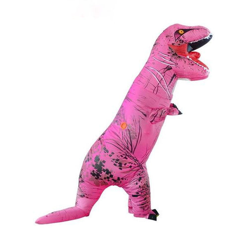Adult Inflatable T-Rex Pink Dinosaur Cosplay Halloween Costume