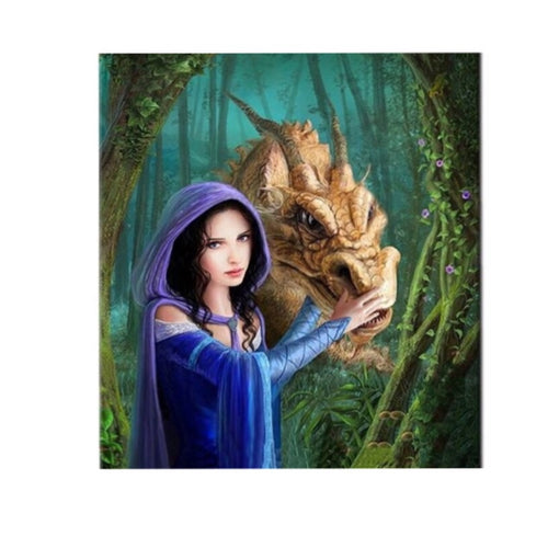 Diy Diamond Painting Cross Stitch beauty and The dinosaur