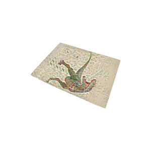 "2'7"" x 1'8"" Exclusive Design T-Rex Jurassic Bloom Area Rug"