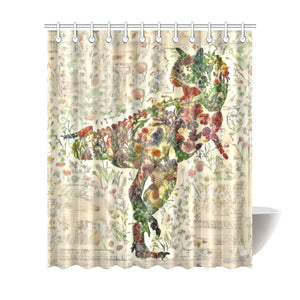 TheDinostaur.com Exclusive Carnotaurus Jurassic Bloom Shower Curtain