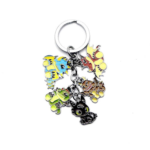 How to Train Your Dragon Silver Plated Charm Key chain