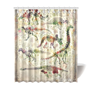"TheDinostaur Exclusive Bones Shower Curtain 72""x84"""
