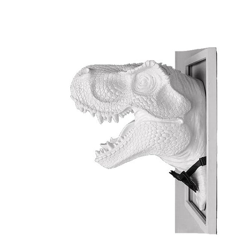 It's A Jurassic World After all Resin Sir Dinosaur Trophy Head T-Rex Or Triceratops