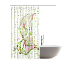 TheDinostaur.com Exclusive Jurassic Garden Botanical Pteranodon Shower Curtain