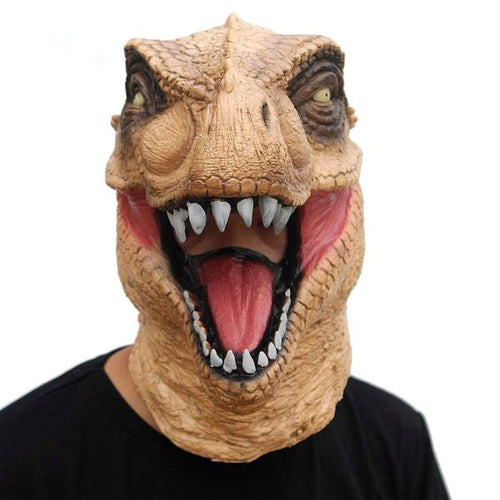 Scary T-Rex Halloween Realistic Jurassic Dinosaur Mask Costume