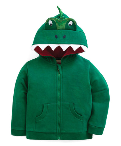 Green Dinosaur Tail Zip Up Hoodie - Newborn & Infant