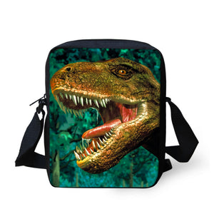 3D Dino Cross-Body Messenger Bag