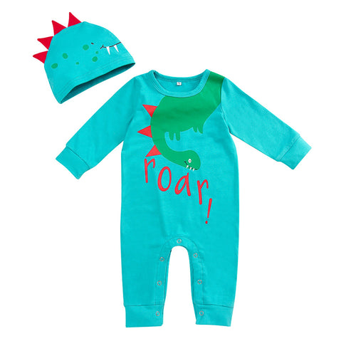 Newborn Roar! Baby Shower Gift Hat & Romper Set