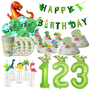 Dinosaur Birthday Party Celebration Celebration Number Age Balloons Decorations