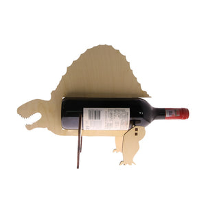 Wood Dinosaur  Dimetroden Wine Bottle Holder