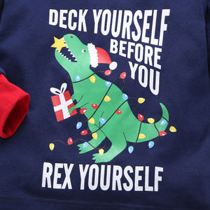 Deck Yourself Before You Rex Yourself Kids Christmas Pajamas *GET IT BEFORE CHRISTMAS DAY*