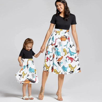 Mom And Me Matching Dinosaur Swing Dresses