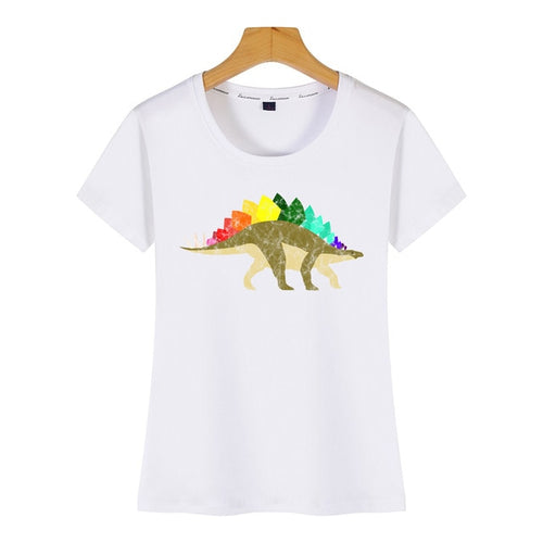 Rainbow Cotton Stegosaurus Pride T-Shirt