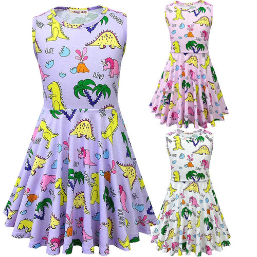 Sleeveless Dino-Tropics Dress