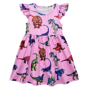Dinosaur Party Cap Sleeve Dress  2 Color Options