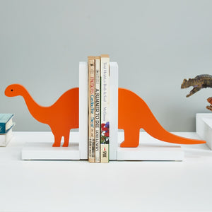 Orange brontosaurus Dinosaur Decoration Bookends