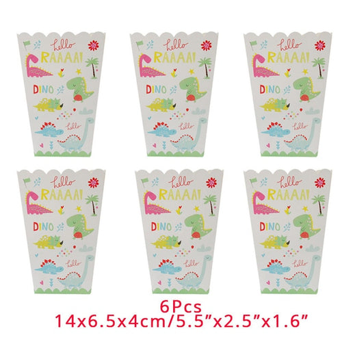 Snack Container Popcorn Box Dinosaur Party Disposable Tableware Birthday Party Supplies Dino Party