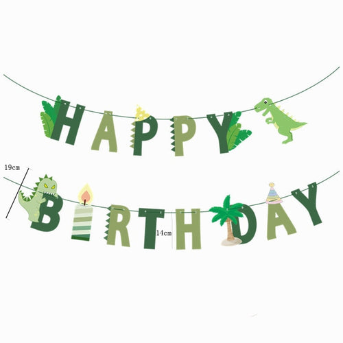 Letter Birthday Banner Dinosaur Party Supplies Favors Roar Dino Party Decor
