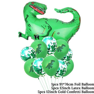 5 Balloon Set Options Dinosaur Party Kids Birthday Party Supplies Favors Roar Dino Party Balloons Decor