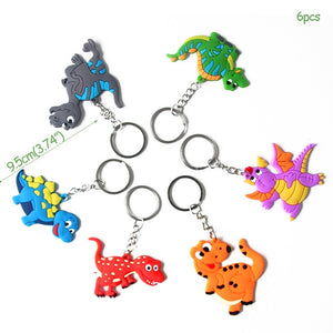 6 Keychain Party Favors Dinosaur Party Kids Birthday Party Supplies