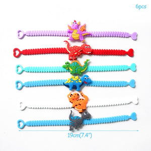 6 Bracelet Dinosaur Party Favors Kids Birthday Party Supplies
