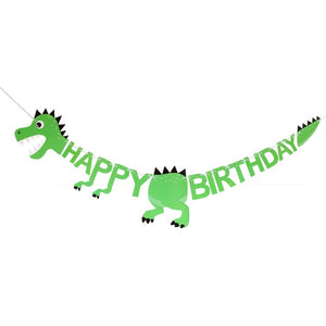 3 Options Birthday Dinosaur Party Supplies Banner Decor
