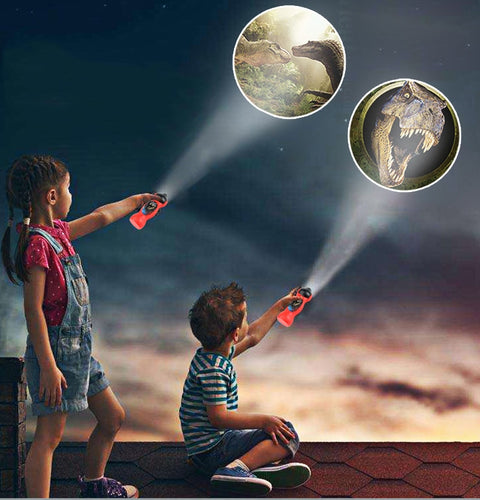 Dinosaur Projector Flashlight Toy Rotatable Lens Projector 24 Different Patterns