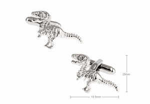 Silver Out For A Stroll Dinosaur Tyrannosaurus Bones Cufflinks