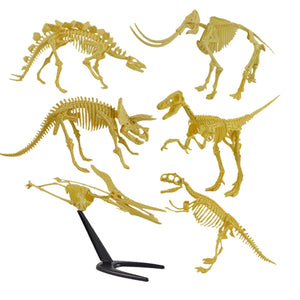 Assorted Plastic Dinosaurs Fossil Skeleton Dino Figures Toys