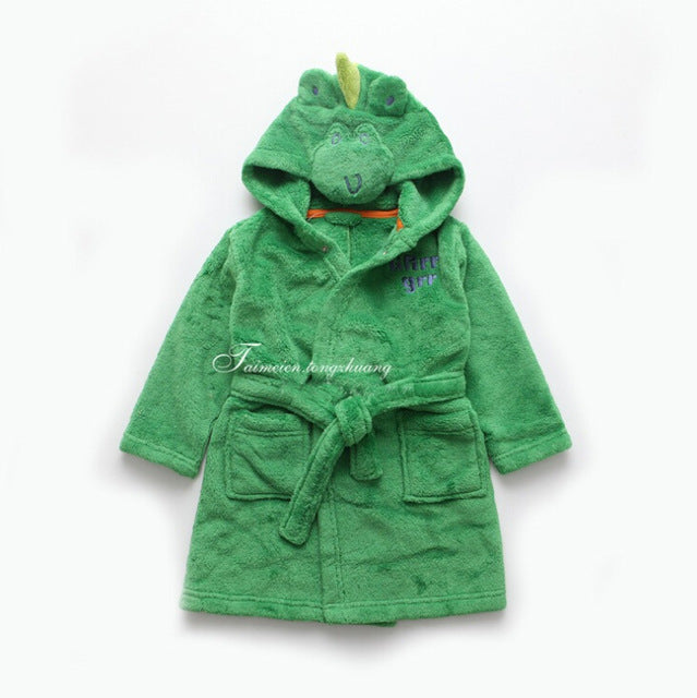 Children's Dino Bath Robe