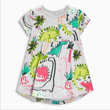 Toddler Cotton Jersey Dinosaur Girls Dress