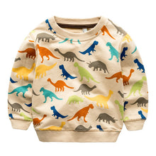 Colorful Cotton Dinosaur Sweatshirt